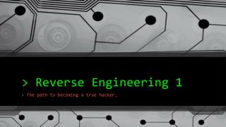 > Reverse Engineering 1