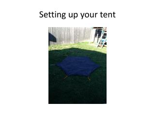 Setting up your tent