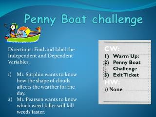 Penny Boat challenge