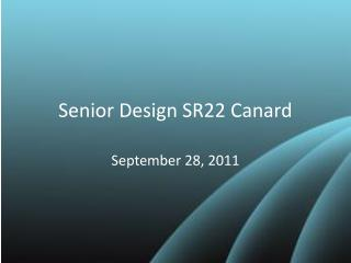 Senior Design SR22 Canard