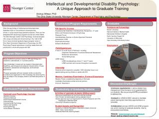 Intellectual and Developmental Disability Psychology:  A Unique Approach  to  Graduate Training