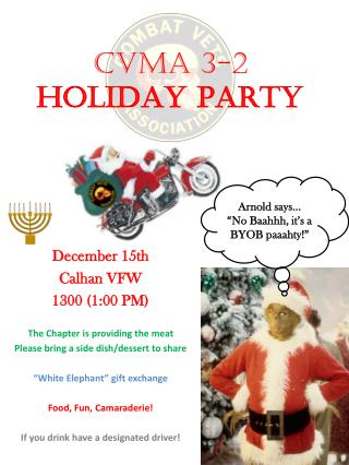 CVMA 3-2 HOLIDAY PARTY