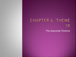 Chapter 6, Theme 1b