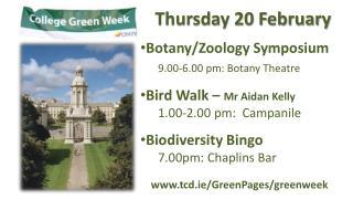 Thursday 20 February