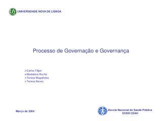 Processo de Governação e Governança