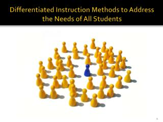 Differentiated Instruction Methods to Address the Needs of All Students