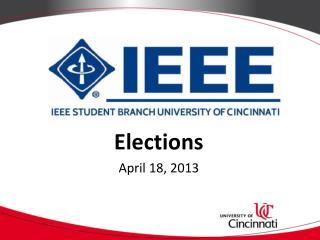 Elections April 18, 2013