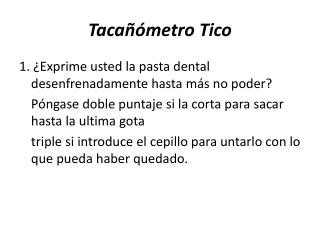 Tacañómetro Tico