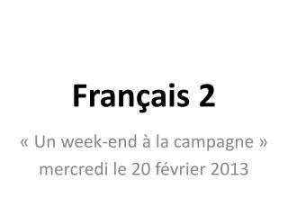 Fran�ais 2
