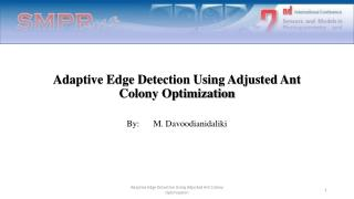 Adaptive Edge Detection Using Adjusted Ant Colony Optimization