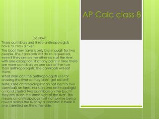 AP  Calc  class 8
