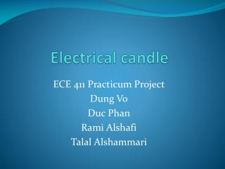 Electrical candle