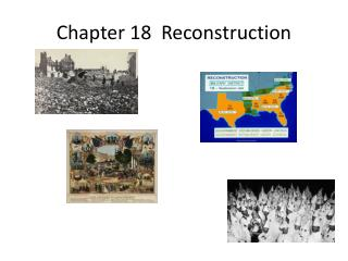 Chapter 18  Reconstruction
