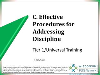 C. Effective Procedures for Addressing Discipline