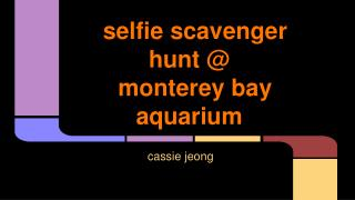 selfie scavenger hunt @ monterey bay aquarium
