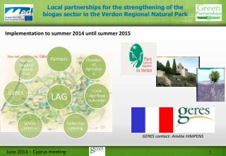 Implementation  to  summer  2014  until summer  2015