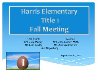 Title Staff:			Coaches: Mrs. Julie Morley		Mrs. Jane Cooney, Math