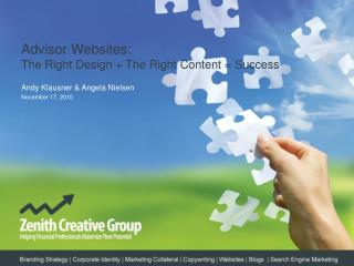 Advisor  Websites:  The  Right Design + The Right Content = Success