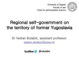 Regional self-government on the territory of former Yugoslavia