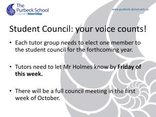 Student Council: your voice counts!