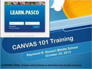 CANVAS 101 Training