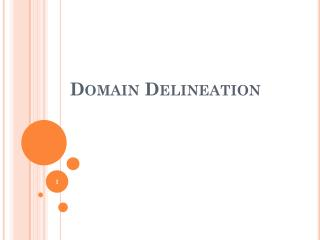 Domain Delineation