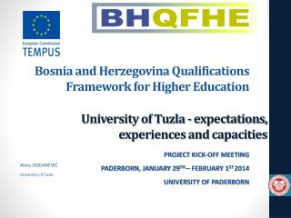 University of Tuzla -  expectations, experiences and capacities