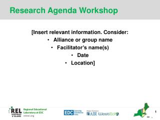 Research Agenda Workshop
