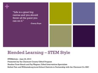 Blended Learning – STEM Style
