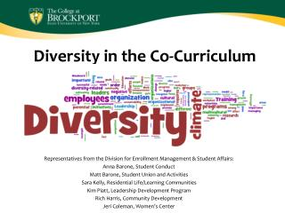 Diversity in the Co-Curriculum