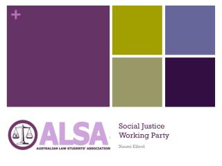 Social Justice Working Party