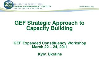 GEF Strategic Approach to Capacity Building