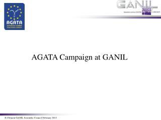 E.Cl�ment  GANIL  Scientific  Council  February  2013