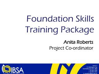 Foundation Skills Training Package
