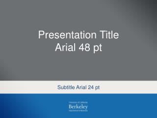 Subtitle Arial 24  pt