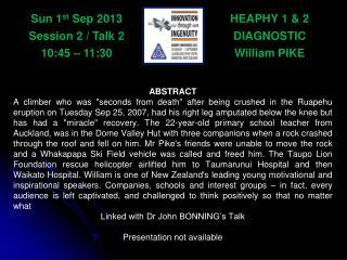HEAPHY 1 & 2 DIAGNOSTIC William PIKE