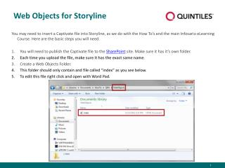 Web Objects for Storyline