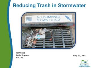 Reducing Trash in  Stormwater