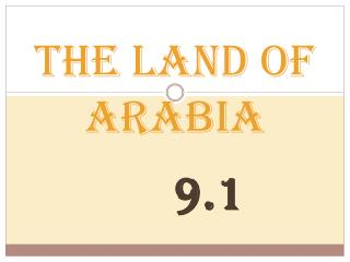 The Land of Arabia