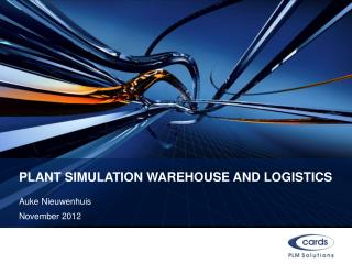Plant Simulation Warehouse and logistics