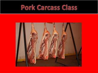 Pork Carcass Class