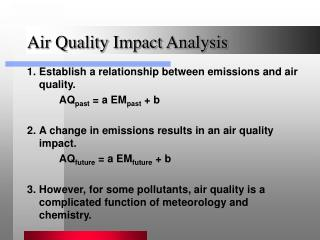 Air Quality Impact Analysis
