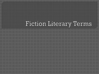 Fiction Literary Terms