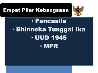 Pancasila Bhinneka  Tunggal  Ika UUD 1945 MPR
