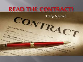 Read the Contract!