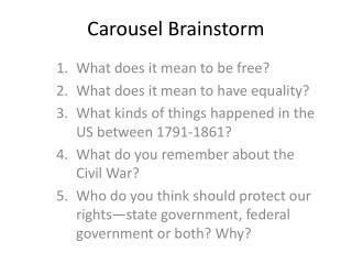 Carousel Brainstorm