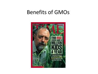 Benefits of GMOs