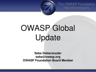 OWASP Global Update