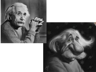Einstein Caricature to Critique