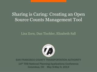 Sharing is Caring: Creating an Open Source Counts Management Tool